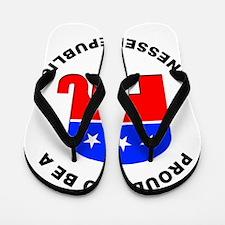 Tennessee Republican Pride Flip Flops