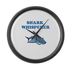 Shark Whisperer Large Wall Clock