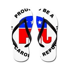 North Carolina Republican Pride Flip Flops