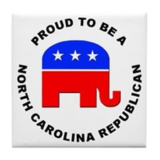 North Carolina Republican Pride Tile Coaster