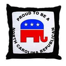 North Carolina Republican Pride Throw Pillow