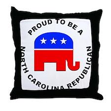 North Carolina Republican Pride Throw Pillow