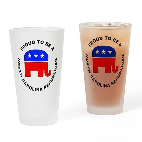 North Carolina Republican Pride Drinking Glass