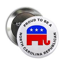 """North Carolina Republican Pride 2.25"""" Button (10 p"""