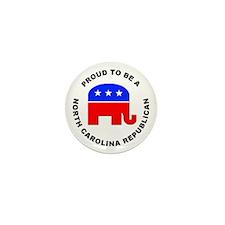 North Carolina Republican Pride Mini Button