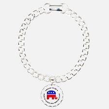 North Carolina Republican Pride Charm Bracelet, On