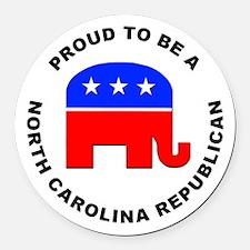 North Carolina Republican Pride Round Car Magnet