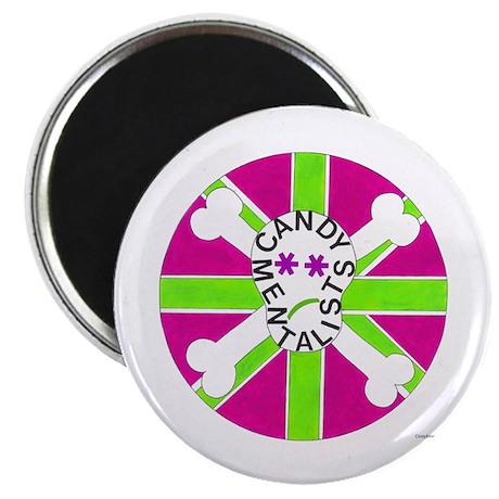 """Skull (purple/green) 2.25"""" Magnet (100 pack)"""