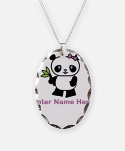 Personalized Panda Necklace