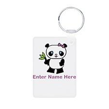 Personalized Panda Keychains