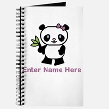 Personalized Panda Journal
