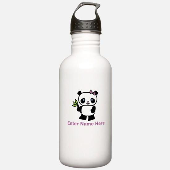 Personalized Panda Water Bottle