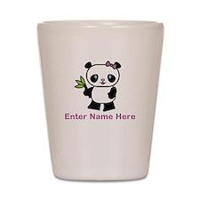 Personalized Panda Shot Glass