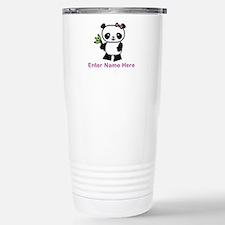 Personalized Panda Travel Mug