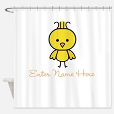 Personalized Baby Chick Shower Curtain