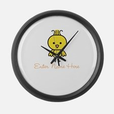 Personalized Baby Chick Large Wall Clock
