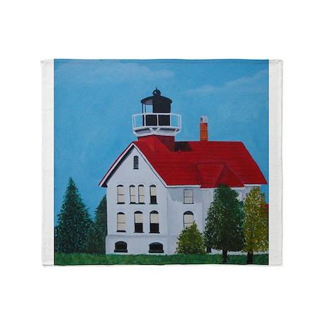 Grand Traverse Lighthouse Throw Blanket