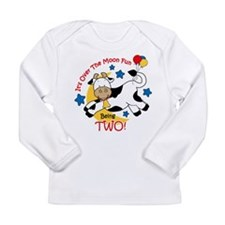 Cow Over Moon 2nd Birthday Long Sleeve Infant T-Sh