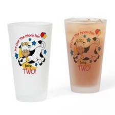 Cow Over Moon 2nd Birthday Drinking Glass