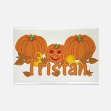 Halloween Pumpkin Tristan Rectangle Magnet