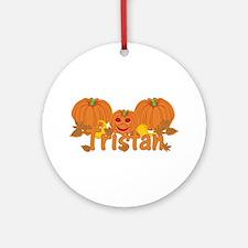 Halloween Pumpkin Tristan Ornament (Round)