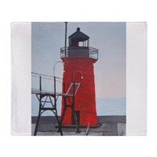 South Haven Lighthouse Throw Blanket