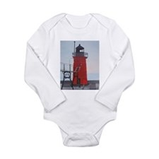 South Haven Lighthouse Long Sleeve Infant Bodysuit