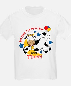 Cow Over Moon 3rd Birthday T-Shirt