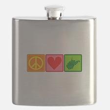 Peace Love West Virginia Flask