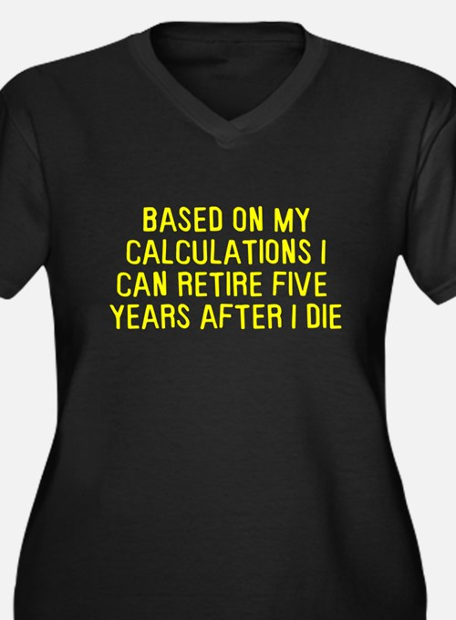 Based on calculations retire Women's Plus Size V-N