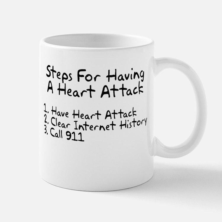 Steps for having a heart attack Mug