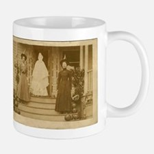 Vintage Halloween Photograph Witches and Ghost Mug