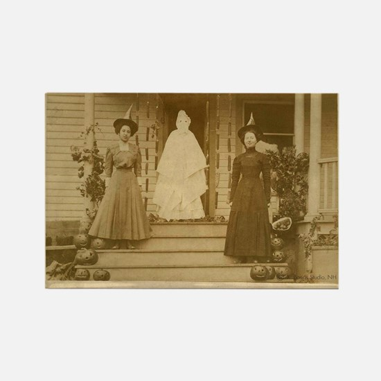 Vintage Halloween Photograph Witches and Ghost Rec