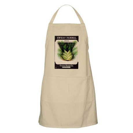 Antique Seed Pack Art Fennel BBQ Apron
