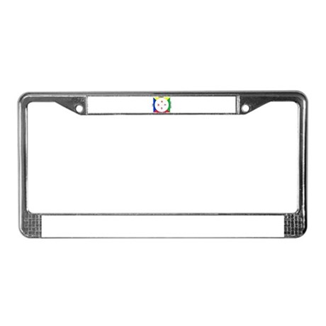Compass (white/primary) License Plate Frame