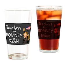 TEACHERS VOTE RIGHT Drinking Glass