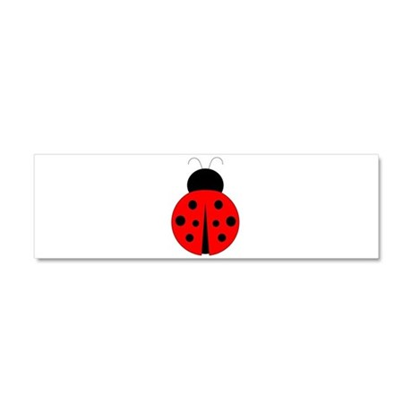 Red and Black Ladybug Car Magnet 10 x 3