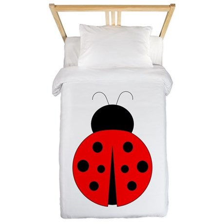 Red and Black Ladybug Twin Duvet