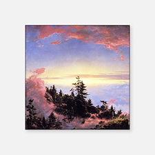 """Frederic Edwin Church Sunrise Square Sticker 3"""" x"""