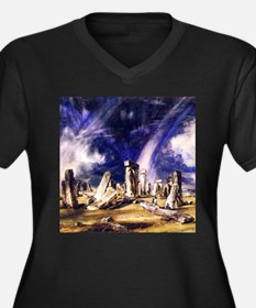 John Constable Stonehenge Women's Plus Size V-Neck