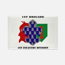 1st Brigade, 1st Infantry Division with Text Recta