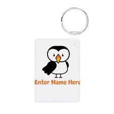 Personalized Puffin Keychains