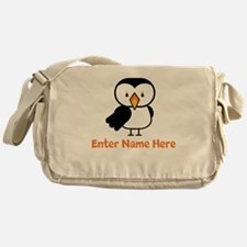 Personalized Puffin Messenger Bag