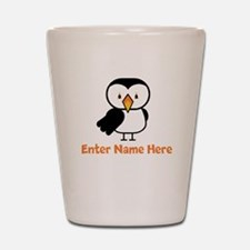 Personalized Puffin Shot Glass