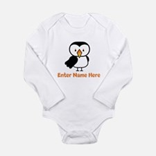 Personalized Puffin Long Sleeve Infant Bodysuit