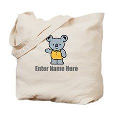 Personalized Koala Bear Tote Bag