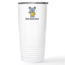 Personalized Koala Bear Stainless Steel Travel Mug