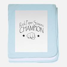 rock paper scissors champion baby blanket