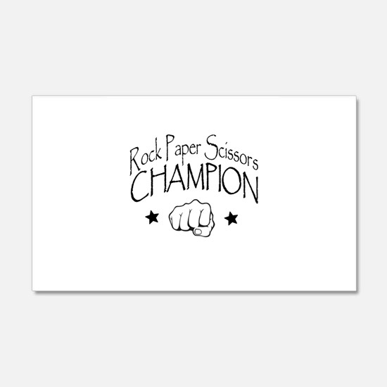 rock paper scissors champion Wall Decal