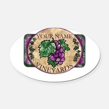 wino Oval Car Magnet